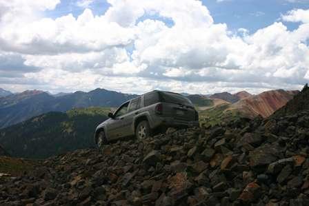 4wd on dirt road, san juan mountains