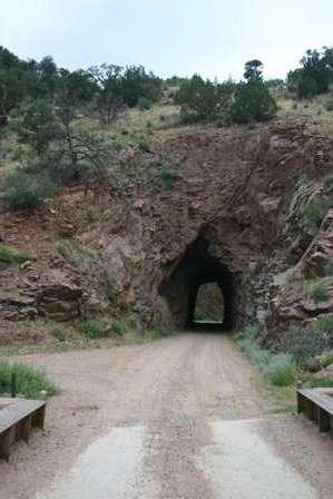 tunnel, phantom canyon road, canon city to cripple creek colorado