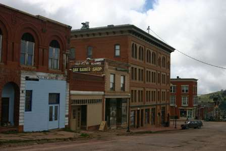 Victor, Colorado streets and old buildings