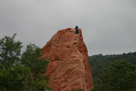 rock climbers, garden of the gods, colorado