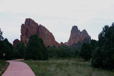 rocks and trails at Garden of the Gods, Colorado Springs