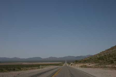 Road from Beatty to Death Valley
