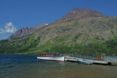 Sinopah docked at Two Medicine Lake, Glacier National Park.