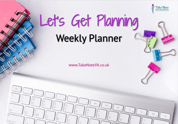 Let's Get Planning - Weekly Planner - Virtual Assistant