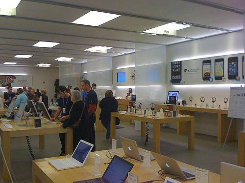 Inside the Apple store at Montgomery Mall, MD
