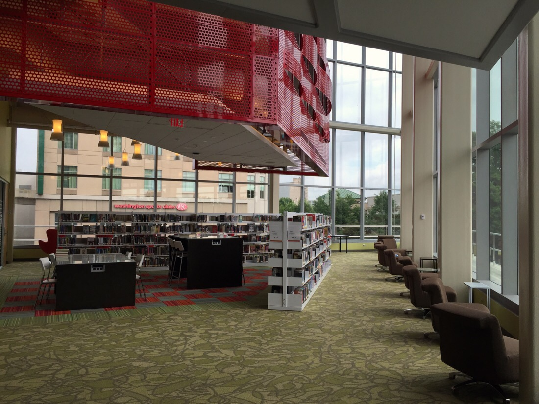 interior of the new library in silver spring, maryland
