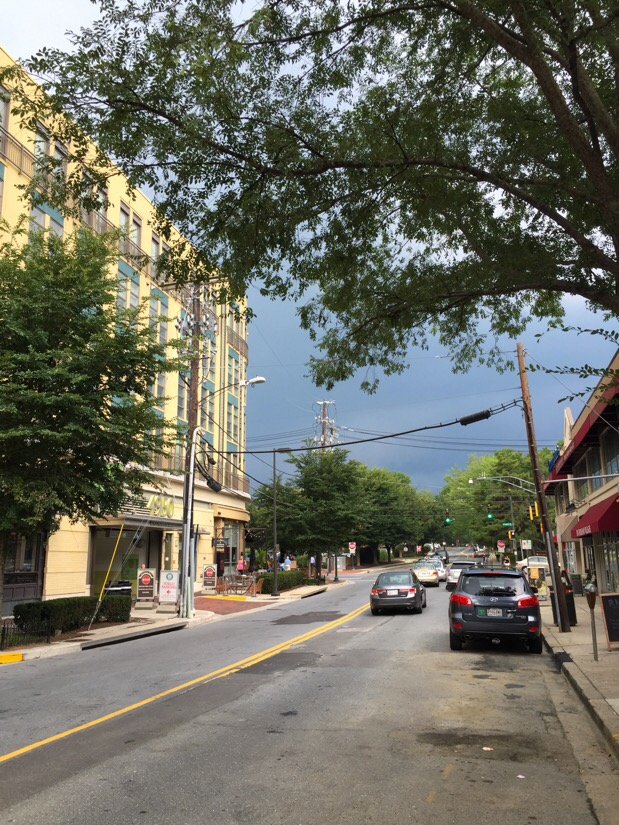storm clouds appear over bethesda, maryland
