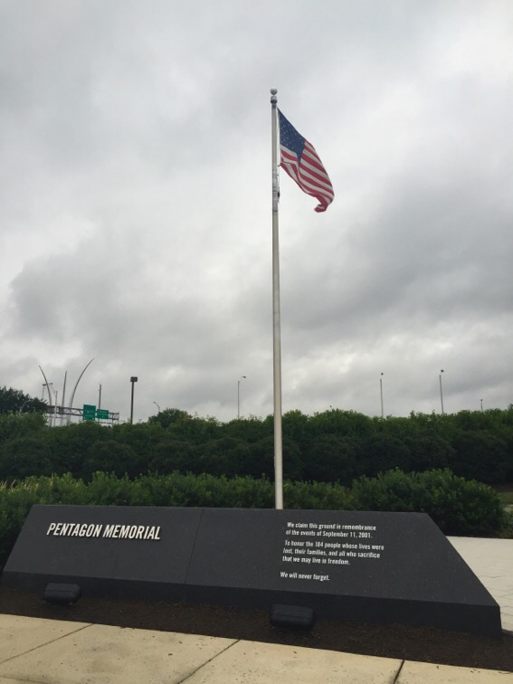 9/11 memorial at the pentagon in arlington