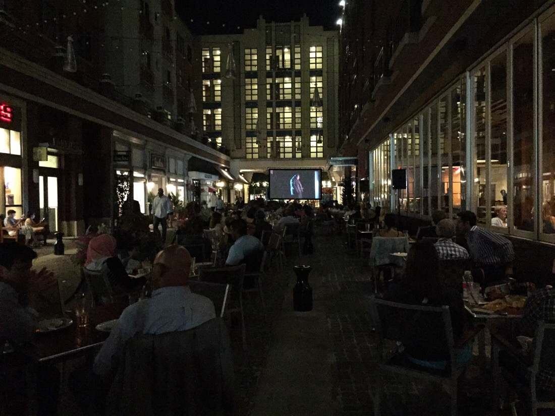 movie night on bethesda lane in bethesda, maryland