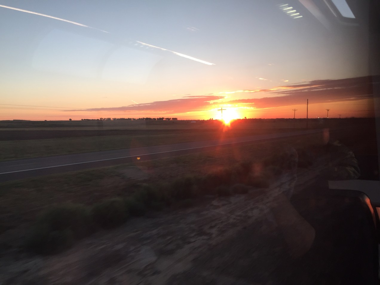 sunrise over colorado on the amtrak southwest chief