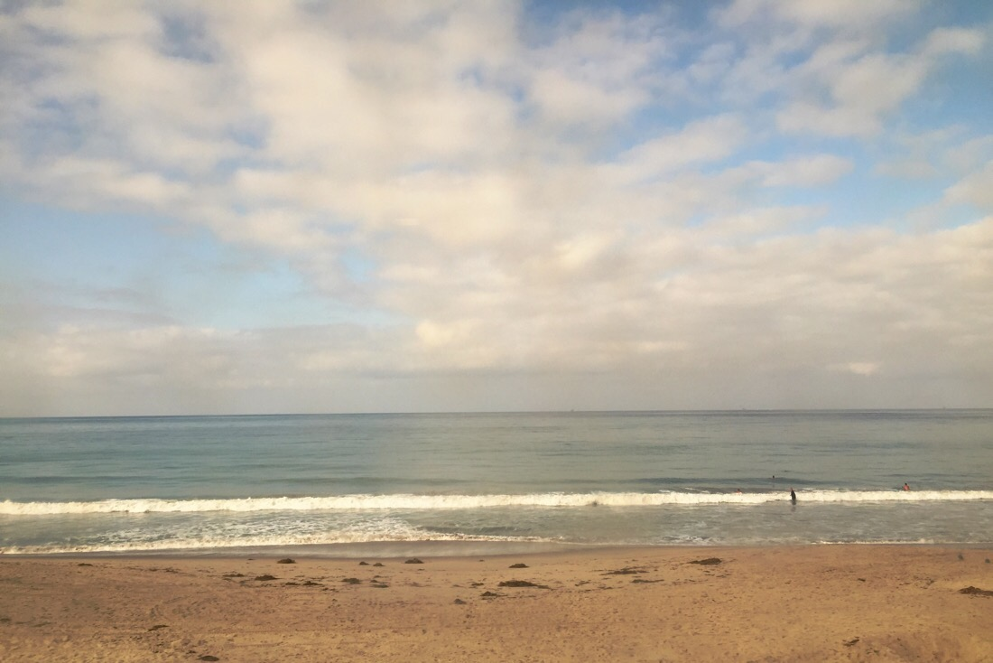 southern california beach and pacific ocean