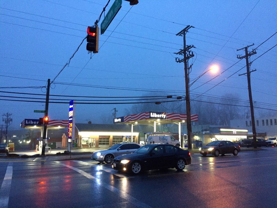 it was a foggy and rainy morning in rockville, md