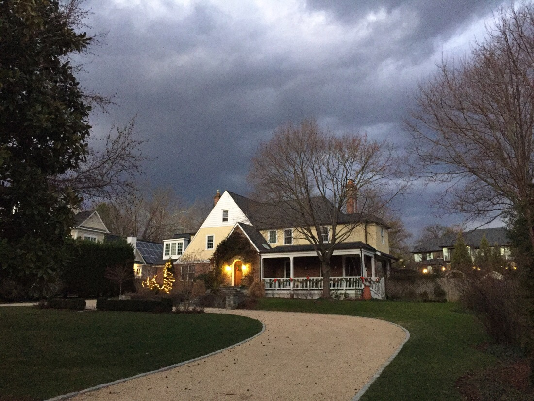 evening draws in as the clouds decend in bethesda, md
