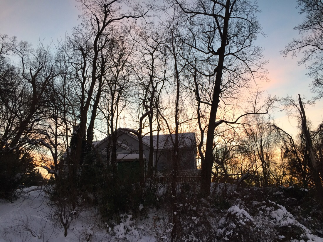 a beautiful sunrise after a couple of days of the blizzard of 2016