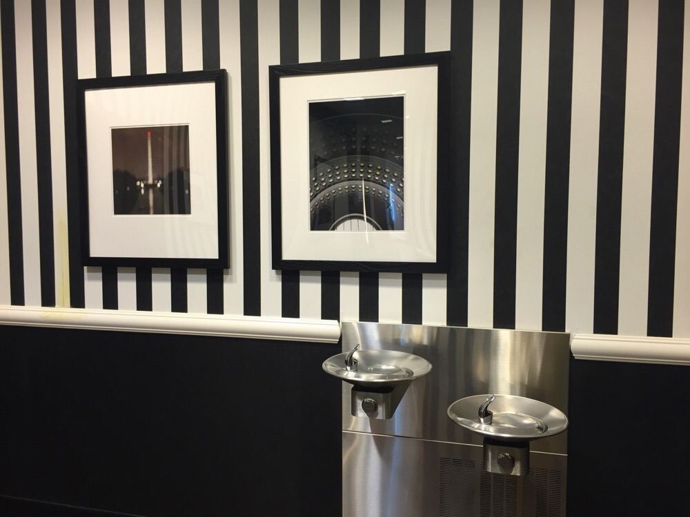photography displayed in the mens department at the bloomingdales department store in chevy chase, md