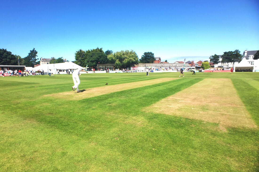 lancashire versus durham in a county championship match in southport