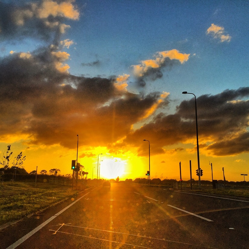 Driving into the sunset in netherton, merseyside