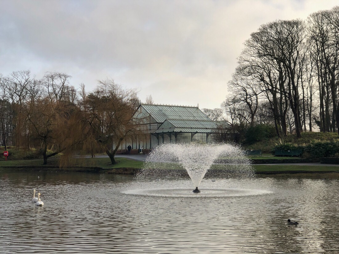 The lake at Hesketh Park in Southport