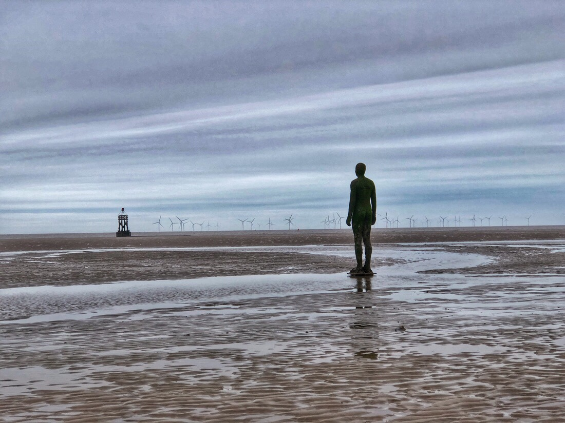 Another place by Anthony gormley in Crosby, merseyside
