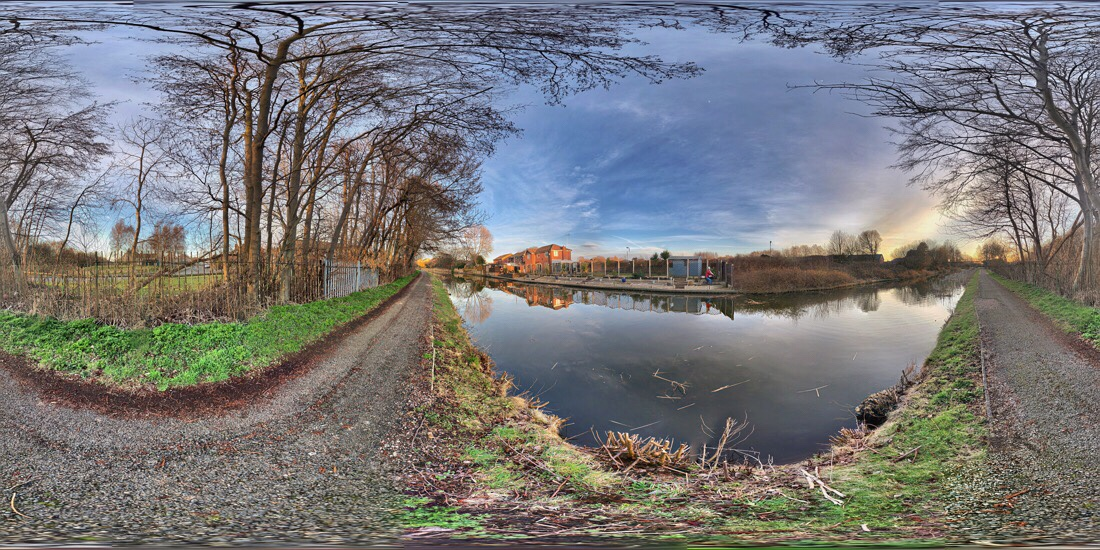The Leeds Liverpool canal in ford, merseyside