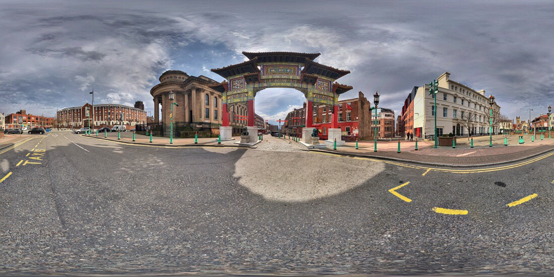 Chinese gateway arch in Liverpool's Chinatown
