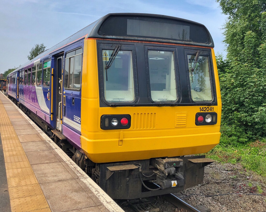 Northern rail train at Ormskirk Station.