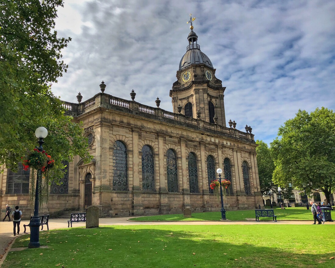 St Philip's Cathedral in Birmingham, UK