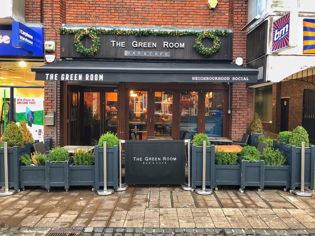 The Green Room coffee shop in Ormskirk, Lancashire