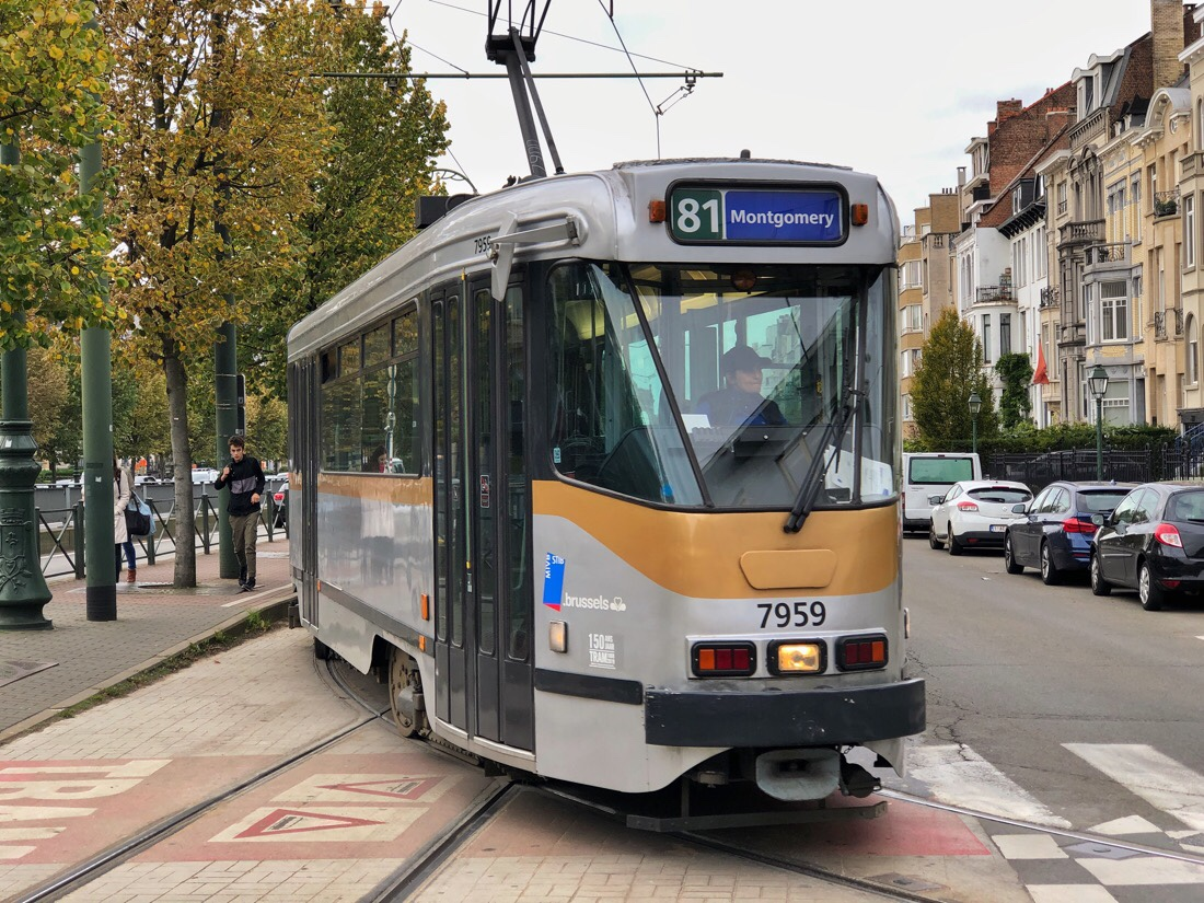 Riding the tram system in Brussels, Belgium
