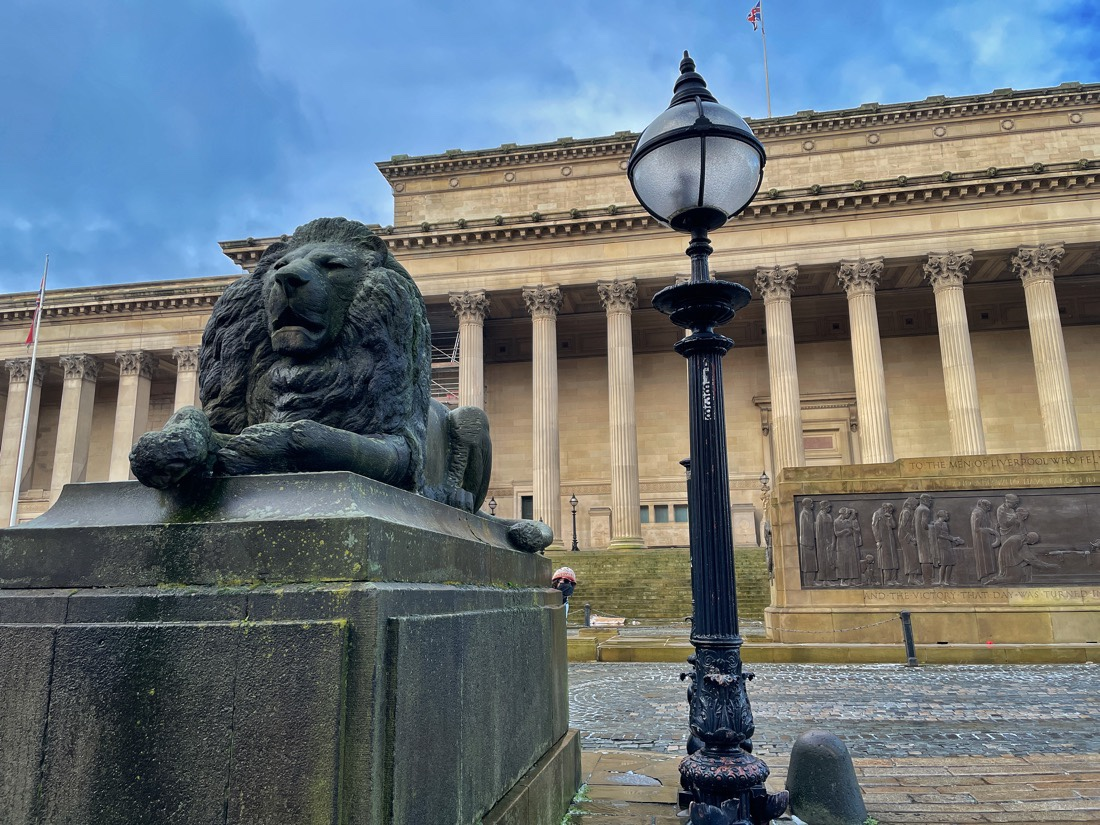 A little bit of fun outside St George's Hall during a morning walk in Liverpool during lockdown