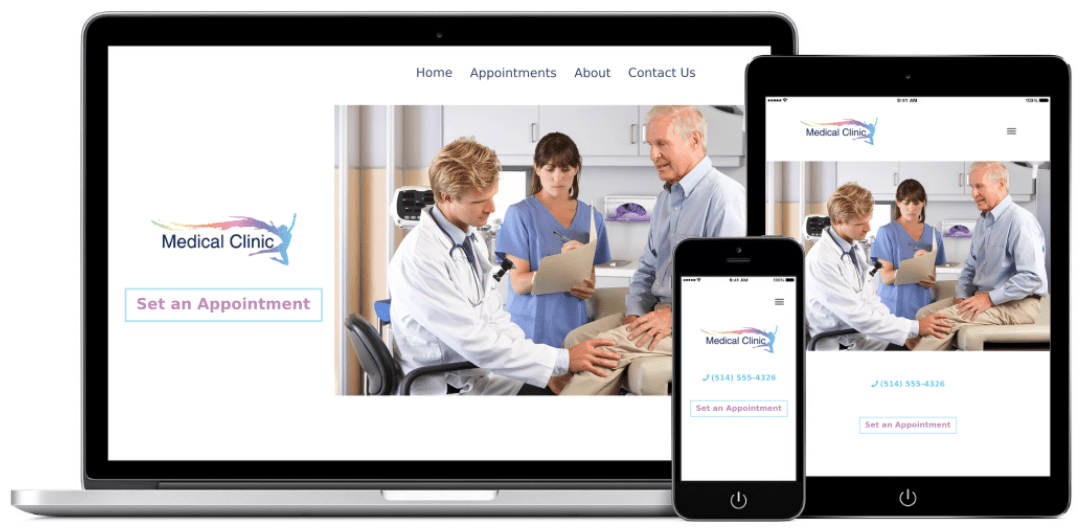 medical clinic web design