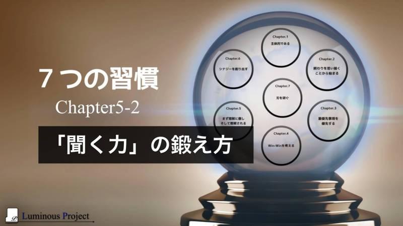 【7つの習慣】Chapter5-2 聞く力の鍛え方