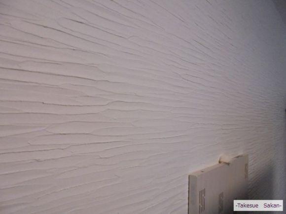 新築マンション リビング壁の珪藻土塗り
