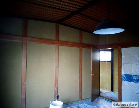 戸建て住宅 和室壁8畳 ビフォー