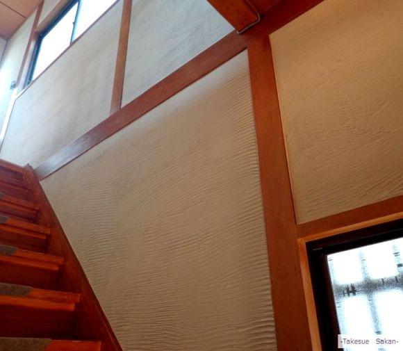 階段壁 模様付き