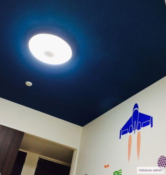 天井が 宇宙色素敵な子供部屋に 変身神戸にて 武居左官ブログ