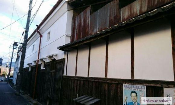 富田林 旧酒蔵外壁 漆喰塗り