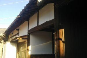 長屋門漆喰塗り替え