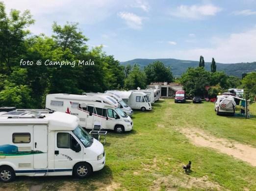 Autorulote in Camping Mala
