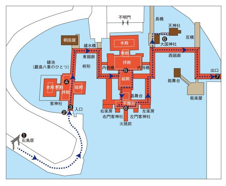 厳島神社の参拝マップ