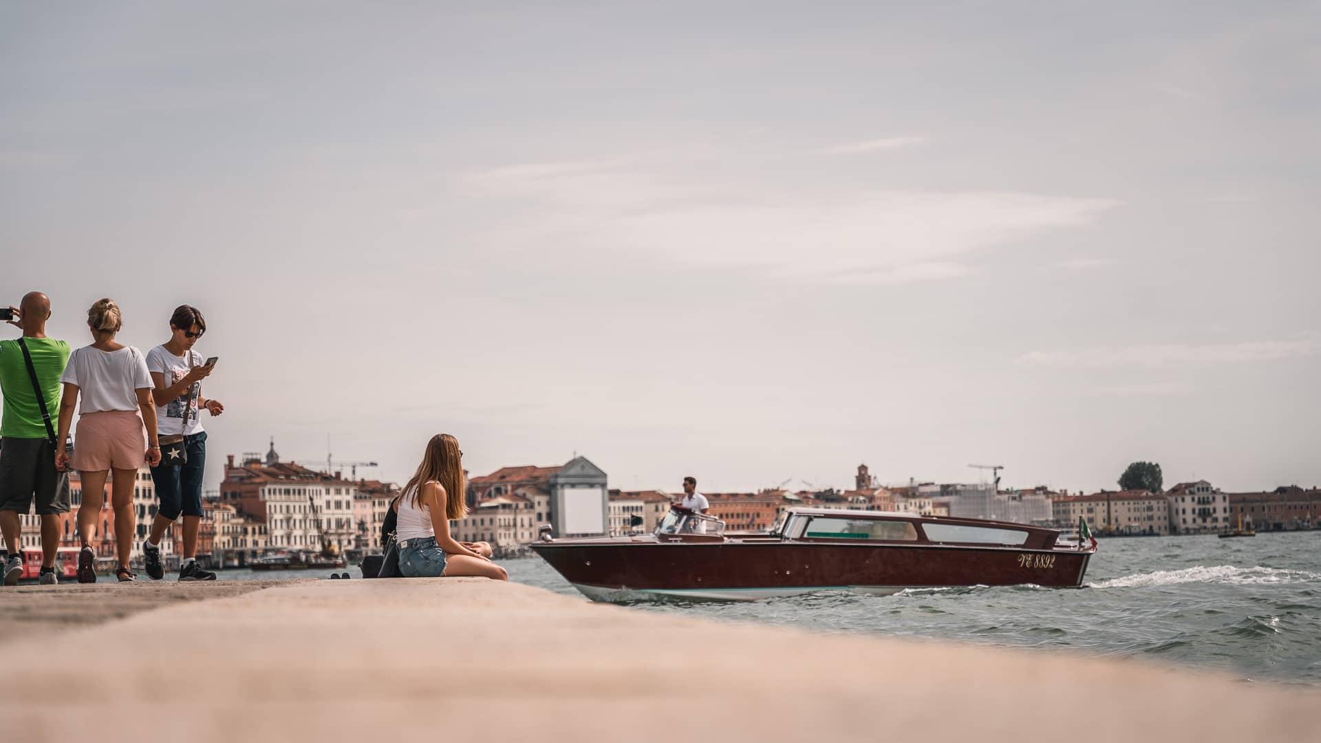 Koniec Canal Grande w Wenecji, Włochy