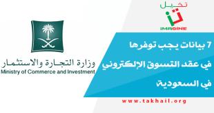7 بيانات يجب توفرها في عقد التسوق الإلكتروني في السعودية