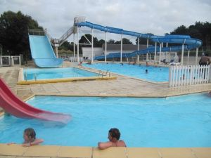 Eurocamp pool, Carnac Plage, Brittany, France