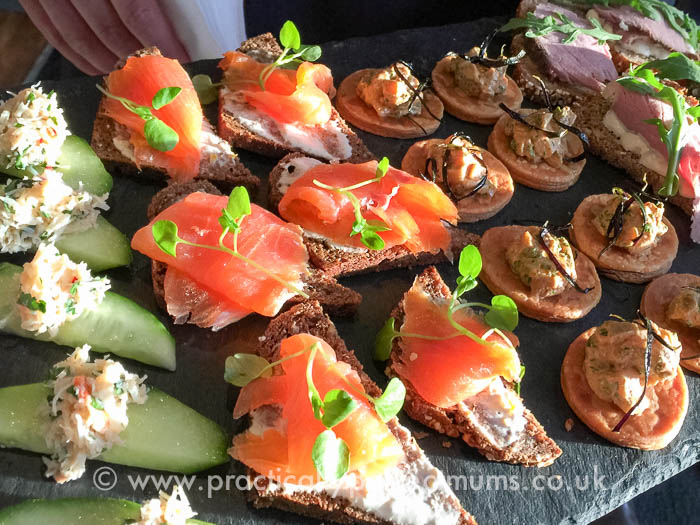 Bristol Travel Massive, Canapés at Shore Bar. The Bristol Hotel