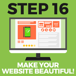 step 16 - make your website beautiful
