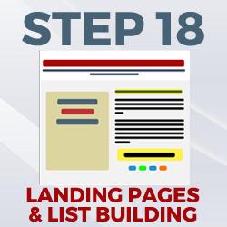 landing pages & list building