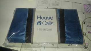 "Photo: Blue totebag reads ""House Calls"" - given to Grandma last year when the United Healthcare nurse came out for her first visit 