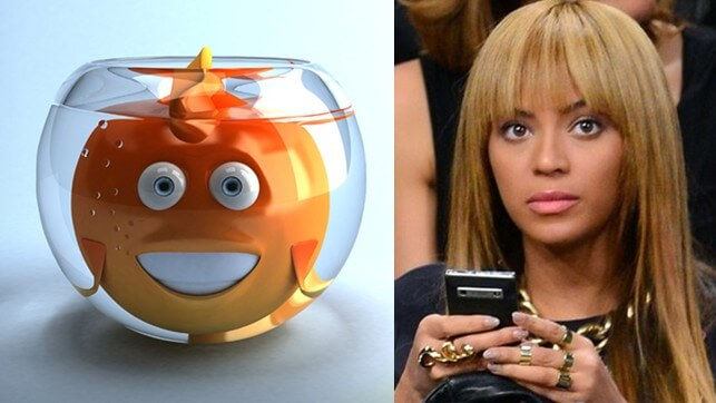 Goldfish wins, Gold Person loses