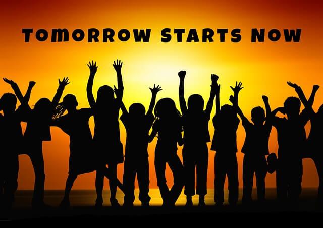 tomorrow starts now; start an ETF savings plan
