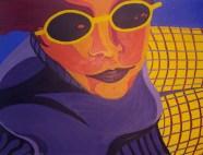 self portrait 2 oil on glass